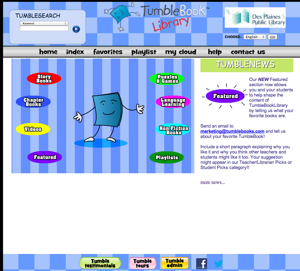 TumbleBook Library screenshot